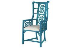 Kings Grant Chair, Teal