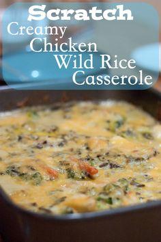 Creamy Chicken Wild Rice Casserole from OrWhateverYouDo.com