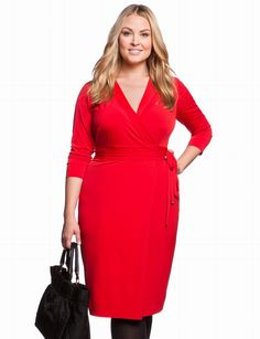 Dvf Dresses Plus Size Essential Wrap Dress Plus