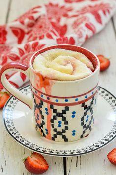 Strawberry Sweet Roll Mug Cake