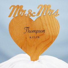 Looking for a unique and stylish wedding cake topper? Look no further! Personalized with two lines of messages, this custom cake topper will be the crowning glory to your perfect day!