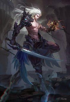 ArtStation - Ghost Warrior, raye chen