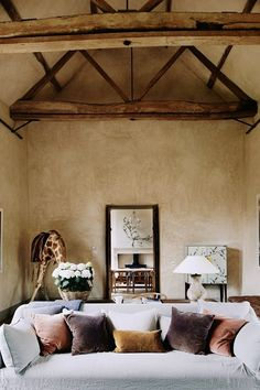 See all our stylish living room design ideas on HOUSE by House & Garden, including this room with limed-plaster walls and oak flooring