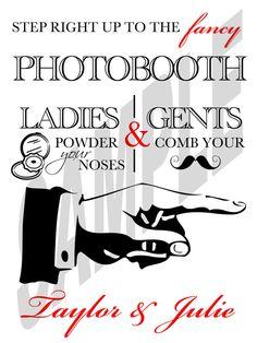 #Wedding Photo Booth Sign DIY