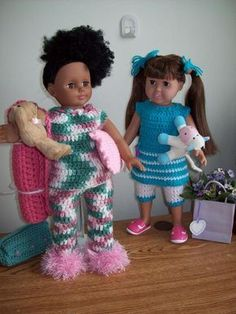 "PJ-Partay- 18"" doll Image INTENSE - Free Original Patterns - Crochetville"