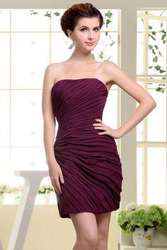 Strapless Mini Style Gesammelt Kleider Chiffon Grape Homecoming Kleider156,28 €   89,30 €