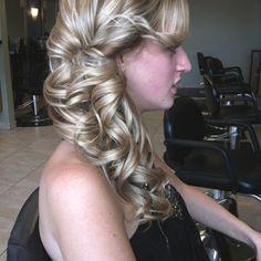 Hair done by nicole stewart side pony updo nstew723@aol.com