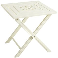 Rock Point Folding Table - Antique White - Outdoor