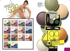 True Color Eyeshadow Quad.  Lowest price ever in C4 only!