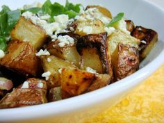 Grilled Potatoes with Blue Cheese