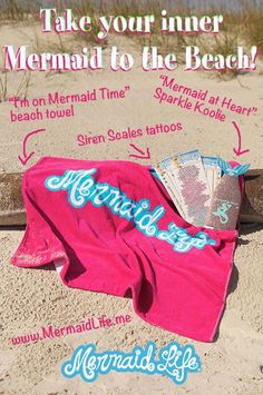 Get beach ready with Mermaid Life accessories! #mermaidlife