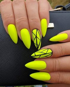 So cute neon yellow nails for summer 2019 Check out the trending summer nail colors and designs to make your decision easily and choose what suits you for summer Neon Yellow Nails, Yellow Nails Design, Yellow Nail Art, Neon Nails, Pastel Nails, Neon Nail Art, Glitter Nails, Summer Acrylic Nails, Best Acrylic Nails