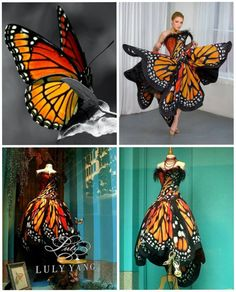 Monarch Butterfly Dress http://www.lulyyang.com/