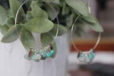 Turquoise Hoop Earrings by HHRusticJewels on Etsy