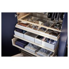 Discover the IKEA PAX wardrobe series. Design your own PAX wardrobe inside and out, from door styles, to shelves, to interior organizers and more. Pax System, Clothing Storage, Shoe Storage, Ikea Storage, Ikea Family, Pax Wardrobe, Pax Closet, White Stain, Home Organization Tips