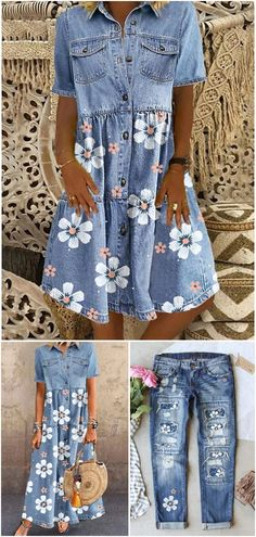 Classy Outfits, Pretty Outfits, Cool Outfits, Casual Outfits, Country Outfits, Casual Dresses, Summer Fashion Outfits, Summer Outfits Women, Denim Fashion