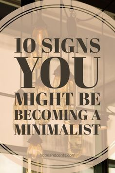10 signs you might be a minimalist