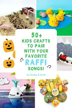 Discover a treasure-trove of eco-friendly kids activities and crafts to make along to your favorite Raffi songs! | via barley & birch #kidscrafts #babybeluga #raffi #kidsmusic #diykids Easy Crafts For Kids, Craft Activities For Kids, Toddler Crafts, Family Activities, Preschool Crafts, Diy For Kids, Crafts To Make, Five Little Pumpkins, Music For Kids