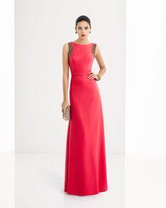 Vestido y chal de crepe y pedreria disponible en, cobalto, rojo y plata.