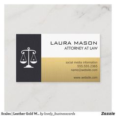 Scales | Leather Gold White Business Card Elegant Business Cards, Cool Business Cards, Lawyer Business Card, Real Estate Gifts, Attorney At Law, Marketing Consultant, Real Estate Investor, Criminal Justice, Smudging