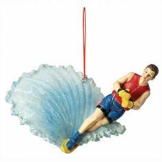 Slalom Waterskier Christmas Ornament - Overton's