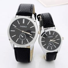 Couples Watch Waterproof Leather Men's Watch Precision Steel Shell Leisure On The Watch