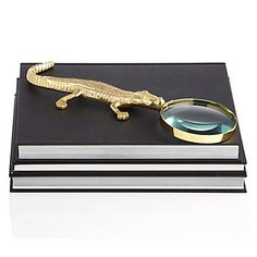 Golden Gator Magnifier from Z Gallerie Office Accessories, Home Decor Accessories, Decorative Accessories, Stylish Home Decor, Unique Home Decor, Affordable Modern Furniture, Glam And Glitter, Chinoiserie Chic, Home Decor Store