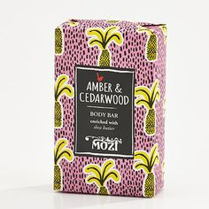 """Australian lifestyle brand Mozi has a beautifully illustrated collection of packaged soaps called """"Out of Africa"""" which make wonderful gifts for the home for art and design lovers alike. Tea Packaging, Pretty Packaging, Beauty Packaging, Brand Packaging, Graphic Design Branding, Label Design, Corporate Design, Package Design, Plakat Design"""