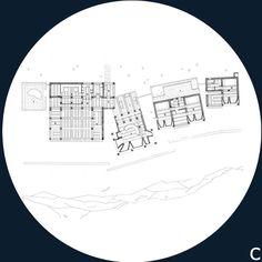 Jorn Utzon - Can Feliz, Mallorca, Spain, 1994 In Plan, How To Plan, Jorn Utzon, Perspective Drawing, Majorca, Architecture Plan, Building Plans, Spain, Floor Plans