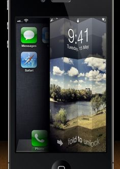 iPhone Fold To Unlock Concept.