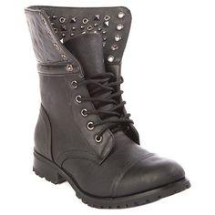 Girls' Gia-Mia Studz Convertible Boots Black 13