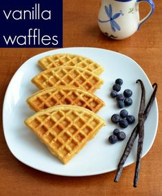vanilla waffles: real food