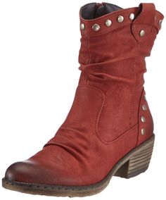 Rieker Womens 93785 Cowboy Boots Red Rot (burgund 35) Size: 39: Rieker: Amazon.co.uk: Shoes & Bags