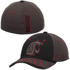 Zephyr Washington State Cougars Black Dark Ice Flex Hat
