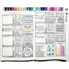 Bullet Journal Weekly Spreads, ideas | Planning and bullet Journal Inspiration with trackers, to do lists