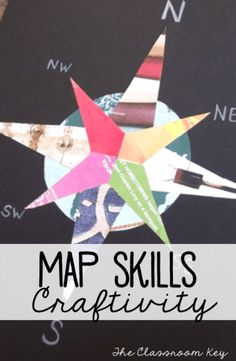 Teaching Map Skills - The Classroom Key Free compass rose project template to reinforce map skills, a fun way to integrate art and social studies in the elementary classroom Social Studies Projects, 3rd Grade Social Studies, Social Studies Classroom, Social Studies Activities, Teaching Social Studies, Art Activities, Geography Activities, Elementary Social Studies, Elementary Teaching