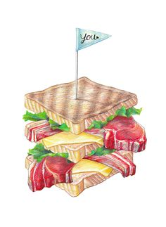 SANDWICH by MARIVILLA, via Behance