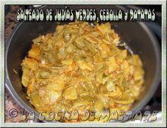 La cocina de Maetiare: Salteado de judías verdes, cebolla y patatas