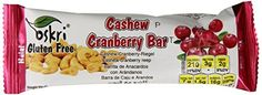 Oskri Granola Bar Cashew and Cranberries Pack of 20 *** Find out more about the great product at the image link. (This is an affiliate link and I receive a commission for the sales) Crunchy Granola, Granola Bars, Gourmet Recipes, Snack Recipes, Brown Sugar Syrup, Oats And Honey, Cereal Bars, Nutritious Snacks, Packing