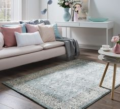 Shop for rugs at Carpetright, the UK's leading rug retailer. Buy from our new range of high quality, great value rugs, runners and doormats today. Decor, Furniture, Room, Duck Egg Rug, Love Seat, Decorating A New Home, New Homes, Home Decor, Rugs