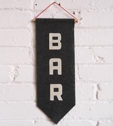 Graphic Design - Graphic Design Ideas - Bar Felt Banner by Allison Cornu on Scoutmob Graphic Design Ideas : – Picture : – Description Bar Felt Banner by Allison Cornu on Scoutmob -Read More – Fabric Garland, Garlands, Pennant Banners, Handmade Felt, Handmade Home Decor, Bars For Home, Diy Art, Crafty, Etsy