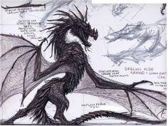 Diary of a Dragonborn — The Elder Scrolls V Skyrim - Dragon concept art by...