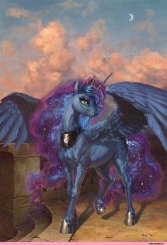 my little pony,Мой маленький пони,фэндомы,mlp art,Princess Luna,принцесса Луна,royal
