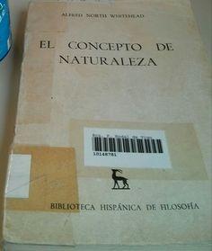 El concepto de Naturaleza - Alfred Whitehead