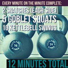 FriYAY workout! At the beginning of every minute perform these movements and then rest until the start of the next minute. Perform all 12 minutes or until you cannot finish within a minute. Use a challenging weight(s) here, feel free to use a different weight #Kettlebell for each movement to help challenge you more! 😀😀👑👑💪💪 #kettlebells #kettlebellworkout #kettlebelltraining #outdoorworkout #homeworkout #ikff #workoutathome