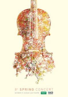 Poster is exciting play on positive and negative and the violin becomes a window…