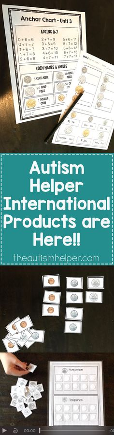 All Autism Helper resources with money are now INTERNATIONAL! Follow our website for Australia, Canada & United Kingdom versions!! From theautismhelper.com #theautismhelper
