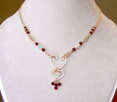 Swarovski Crystal Birthstone Necklace and Mother's Necklace in sterling silver or gold.
