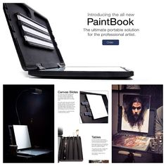 PaintBook Portable easel by edge Pro Gear