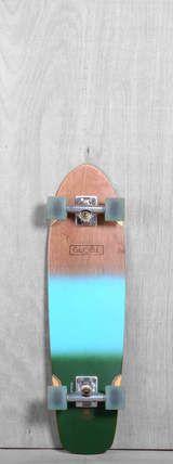 """Globe Prebuilt 31"""" Tracer Classic Aqua Green Spray Longboard Complete"""